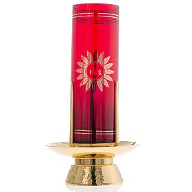 Foot for Blessed Sacrament glass, gold-plated brass s2