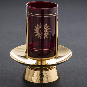Foot for Blessed Sacrament glass, gold-plated brass s6