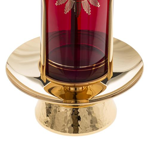 Foot for Blessed Sacrament glass, gold-plated brass 4