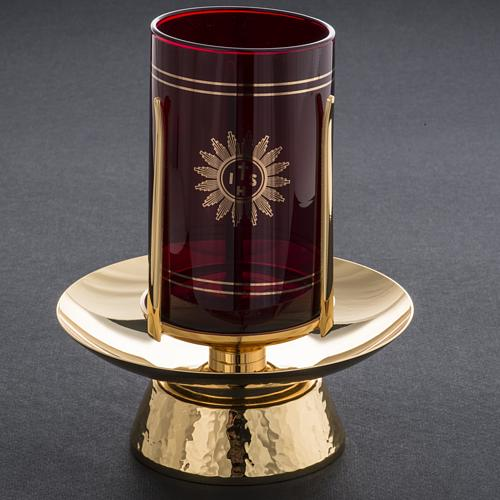 Foot for Blessed Sacrament glass, gold-plated brass 6
