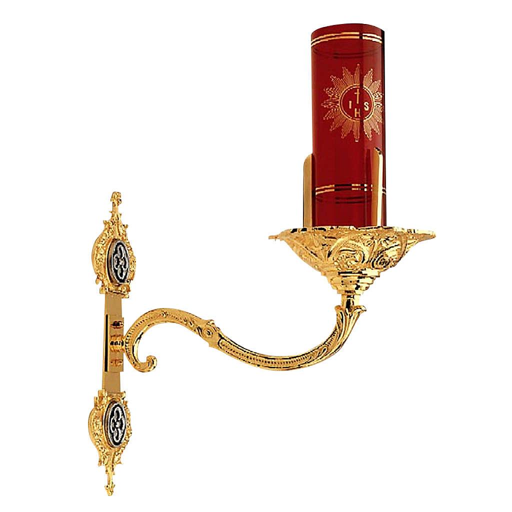Portabicchiere per Santissimo aplique da muro ottone dorato 3