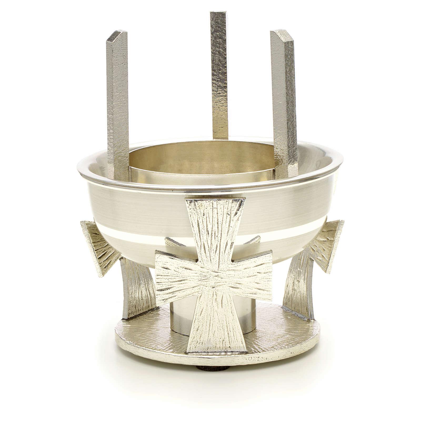 Lámpara para Santísimo de mesa latón cruz r 3