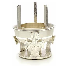 Lampada per Santissimo da tavolo ottone croce s2