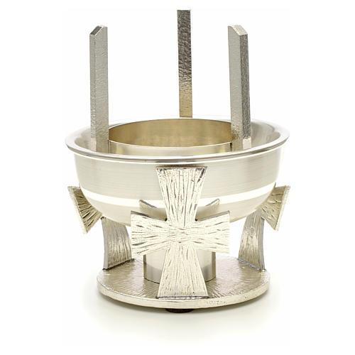 Lampada per Santissimo da tavolo ottone croce 2