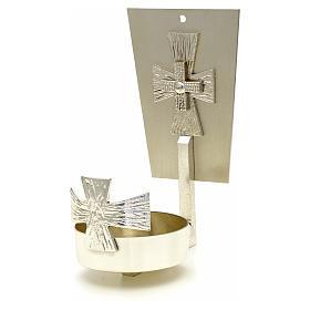 Lampada per Santissimo da muro ottone croce s1