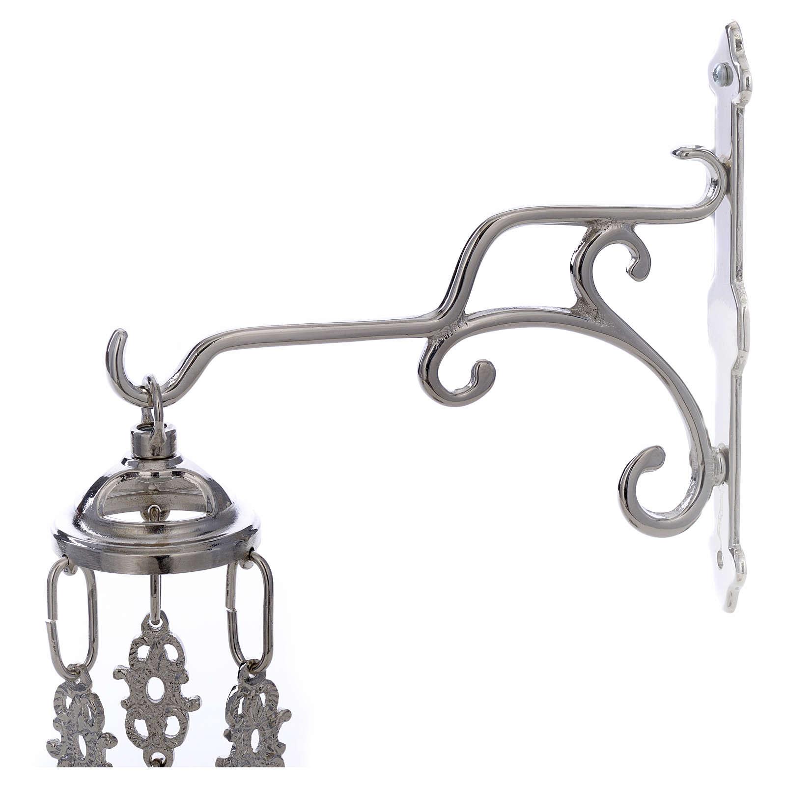 Lámpara de latón plateado cera líquida 3