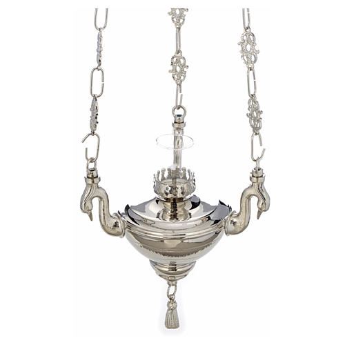 Lámpara de latón plateado cera líquida 2