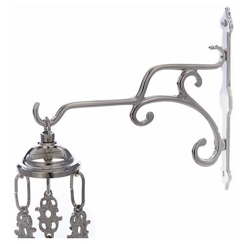 Lámpara de latón plateado cera líquida 4