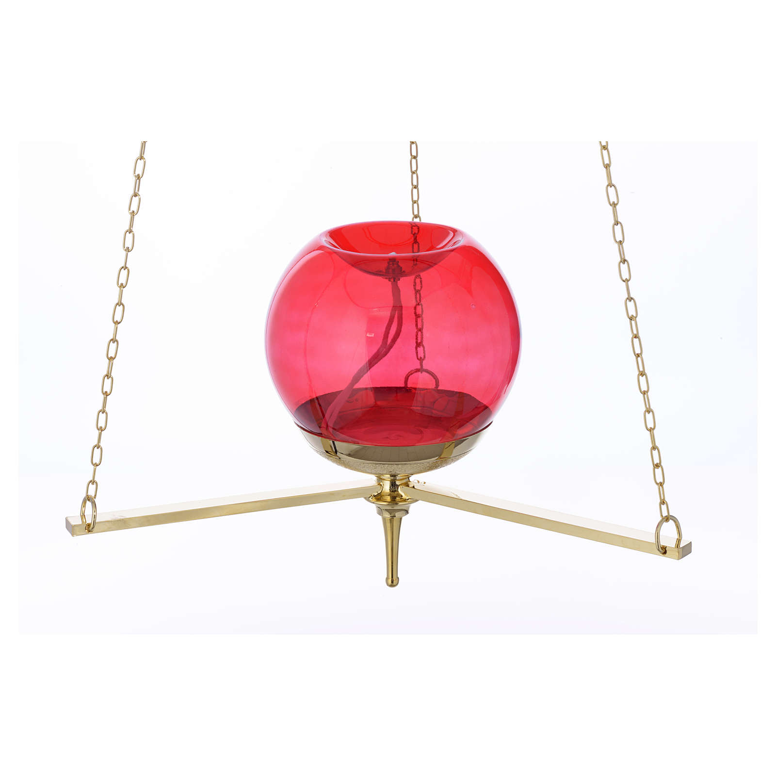 Lampe du Sanctuaire suspendue dorée 3
