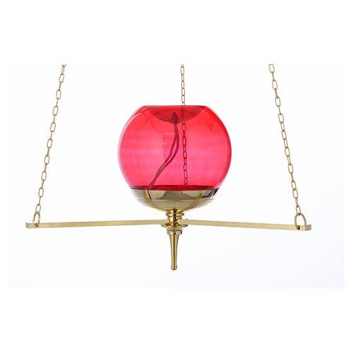 Lampe du Sanctuaire suspendue dorée 2