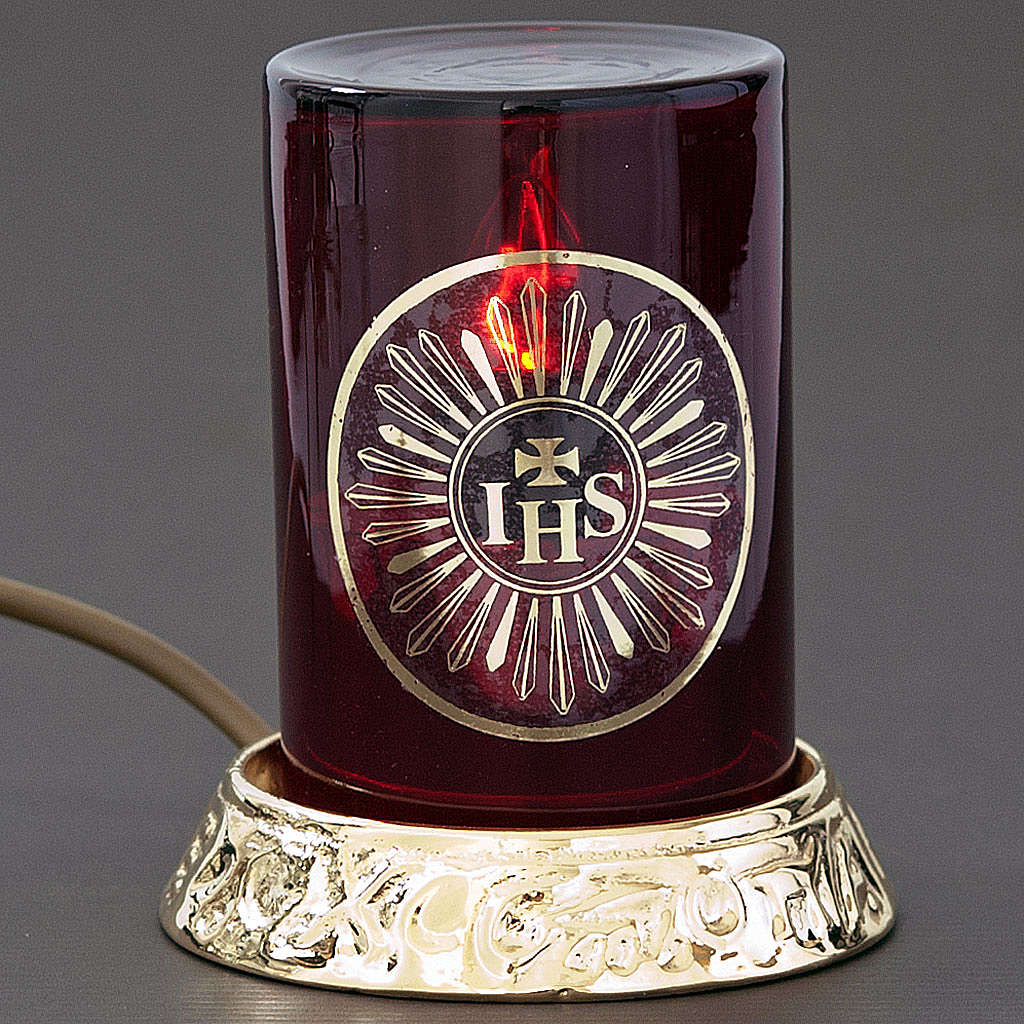 Lámpara para el Santísimo latón eléc 3