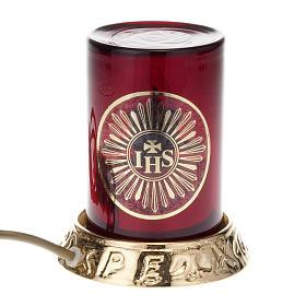 Lámpara para el Santísimo latón eléc s2