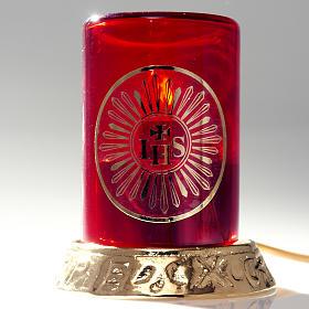 Lámpara para el Santísimo latón eléc s8