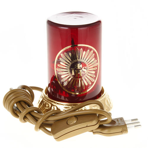 Lámpara para el Santísimo latón eléc 6