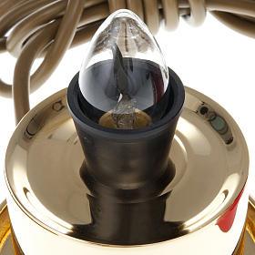 Lampada per Santissimo ottone elettrica s5