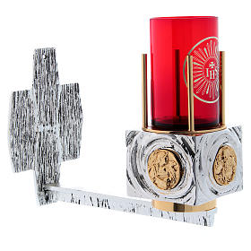 Lámpara para el Santísimo de pared latón fundido s3