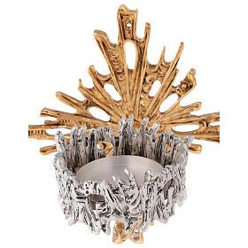 Lámpara para el Santísimo de pared de latón fundido dorado plateado s4