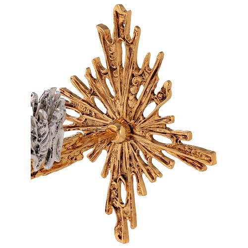 Lámpara para el Santísimo de pared de latón fundido dorado plateado 3