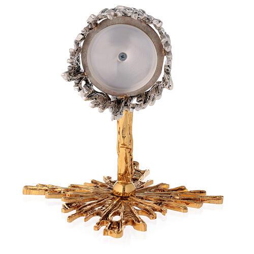 Lámpara para el Santísimo de pared de latón fundido dorado plateado 7