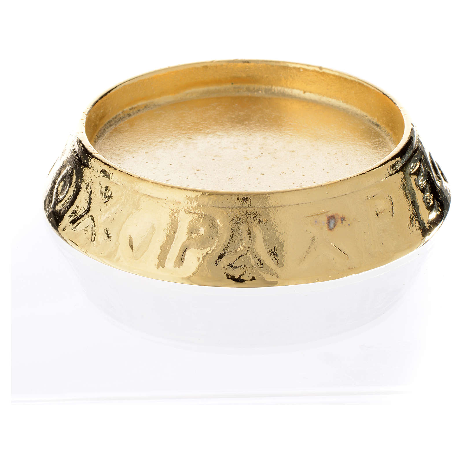 Candle holder in cast brass, 11cm diameter 3