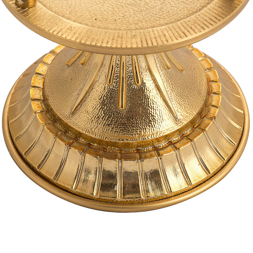 Blessed Sacrament lamp in gold-plated brass 3