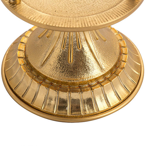 Blessed Sacrament lamp in gold-plated brass 2