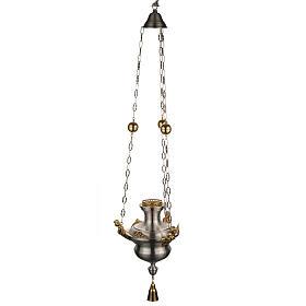 Lampe Sanctuaire avec anges laiton satiné s1
