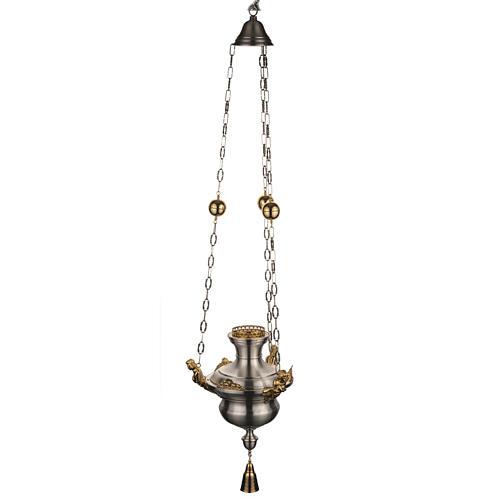 Lampe Sanctuaire avec anges laiton satiné 1