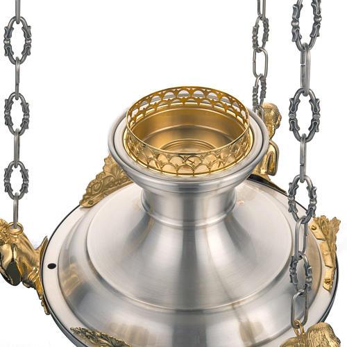 Lampe Sanctuaire avec anges laiton satiné 4