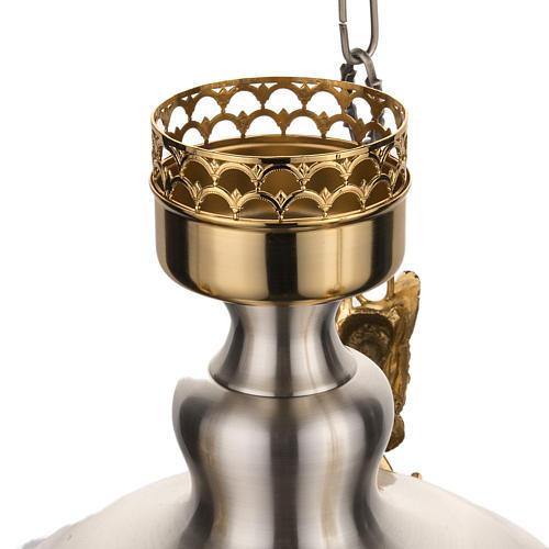 Lámpara Santísimo latón satinado cabeza ang 6