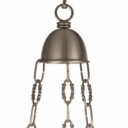 Lámpara Santísimo latón satinado cabeza ang 7