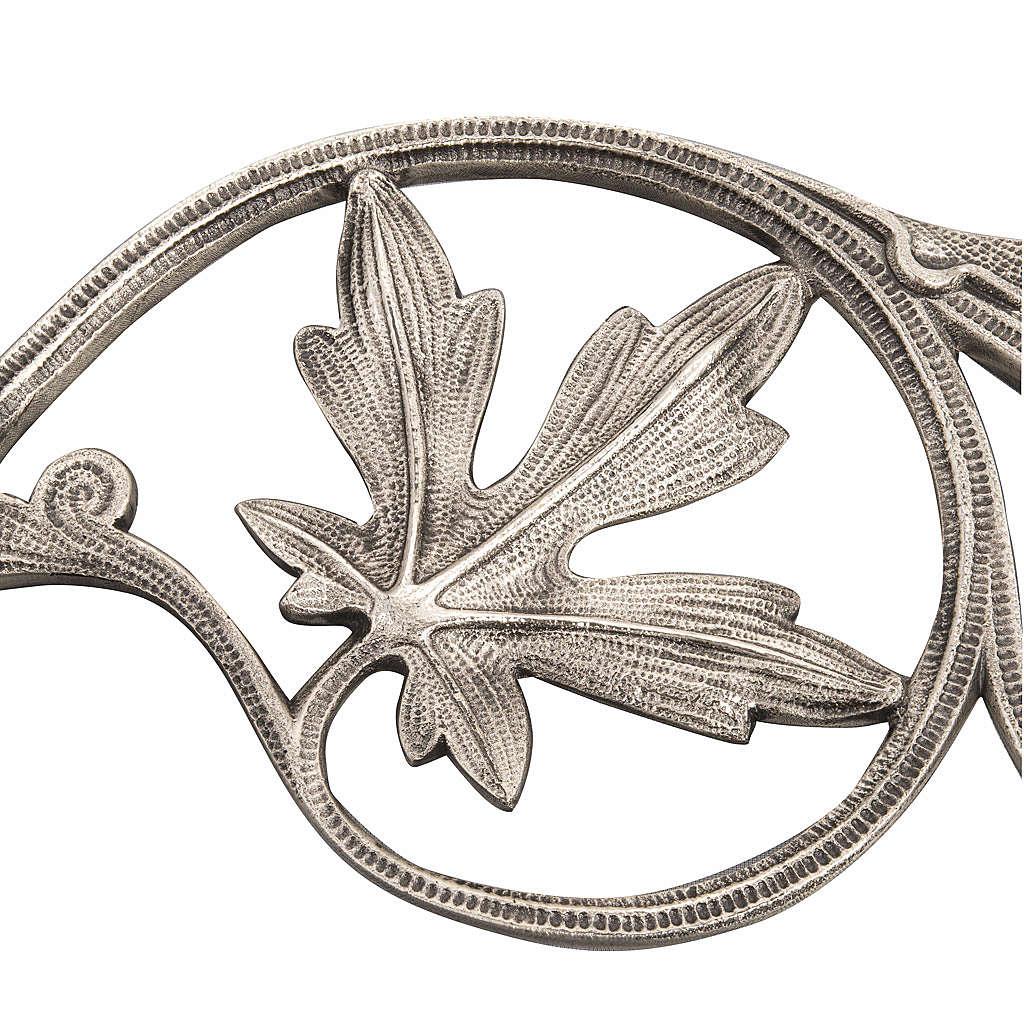 Brazo con hojas para lámpara Santísimo a cadena 3