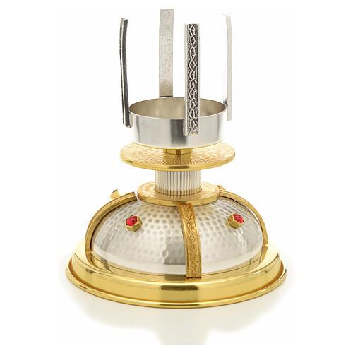 Lámpara para el Santísimo en latón bicolor 2