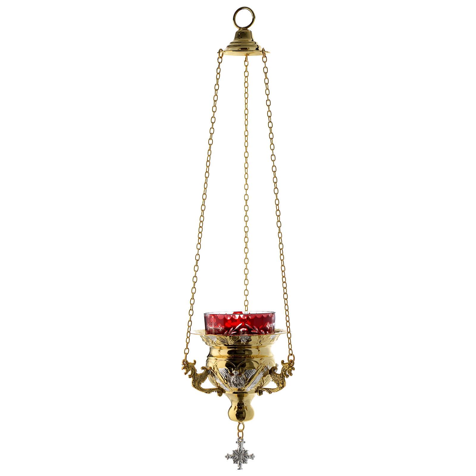 Lampada per Santissimo Ortodossa dorata cm 12X11.5 3