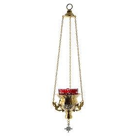 Lampada per Santissimo Ortodossa dorata cm 12X11.5 s2