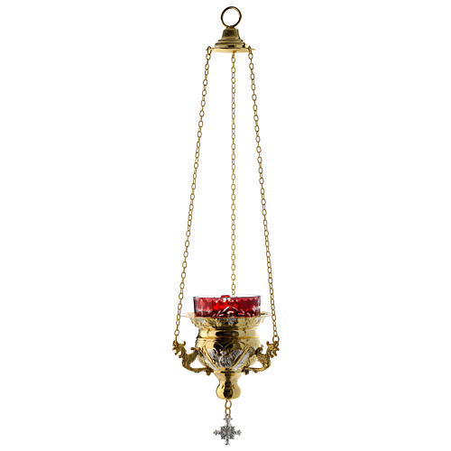 Lampada per Santissimo Ortodossa dorata cm 12X11.5 2