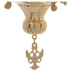 Lampada per Santissimo Ortodossa in ottone cm 15x15 s5