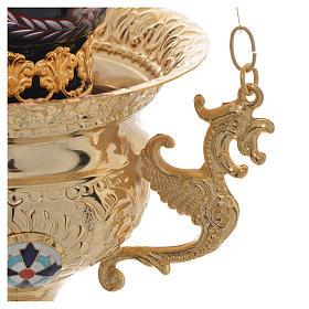Wieczna lampka prawosławna z mosiądzu cm 15x15 s3
