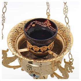 Wieczna lampka prawosławna z mosiądzu cm 15x15 s7
