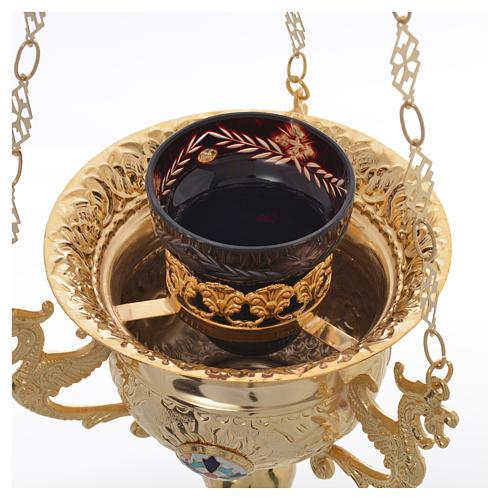 Wieczna lampka prawosławna z mosiądzu cm 15x15 7