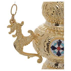 Lámpara para el Santísimo Ortodoxa 19 x 9 cm s3