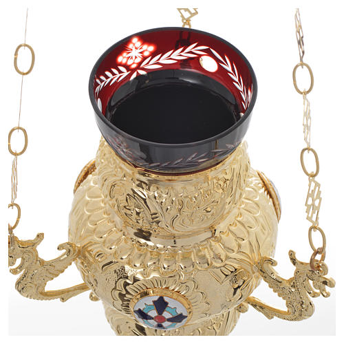 Lámpara para el Santísimo Ortodoxa 19 x 9 cm 6