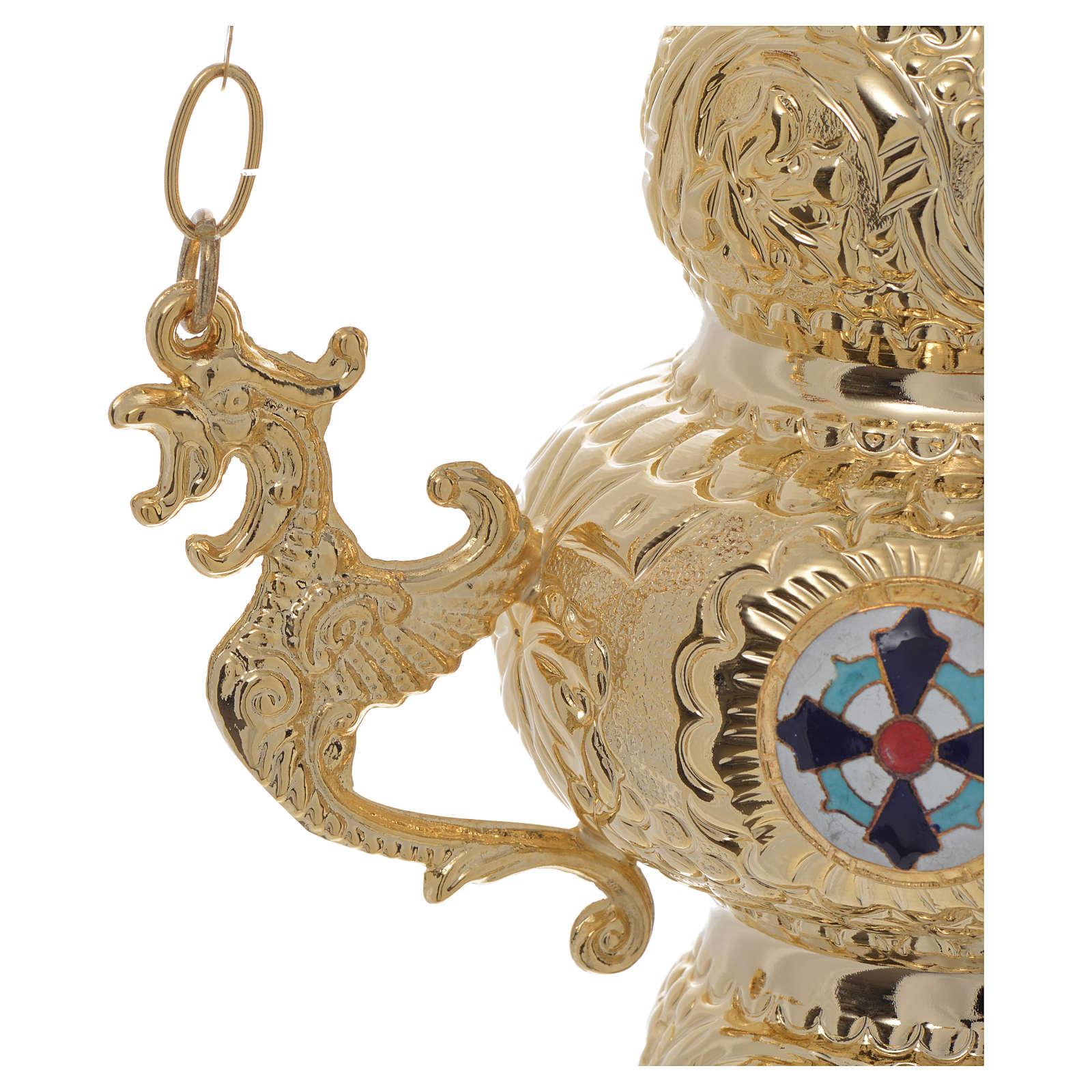 Lampe de Très-Saint-Sacrement orthodoxe 19x9 cm 3