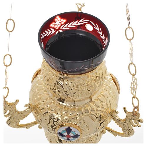 Lampe de Très-Saint-Sacrement orthodoxe 19x9 cm 6