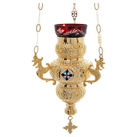 Blessed Sacrament Orthodox lamp 19x9cm s1