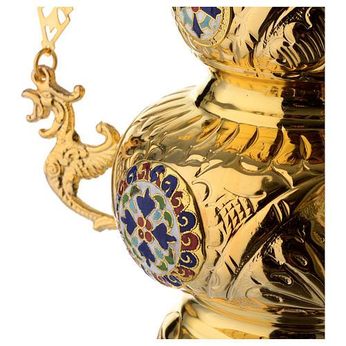 Lámpara Ortodoxa latón dorado cm 26x17 4