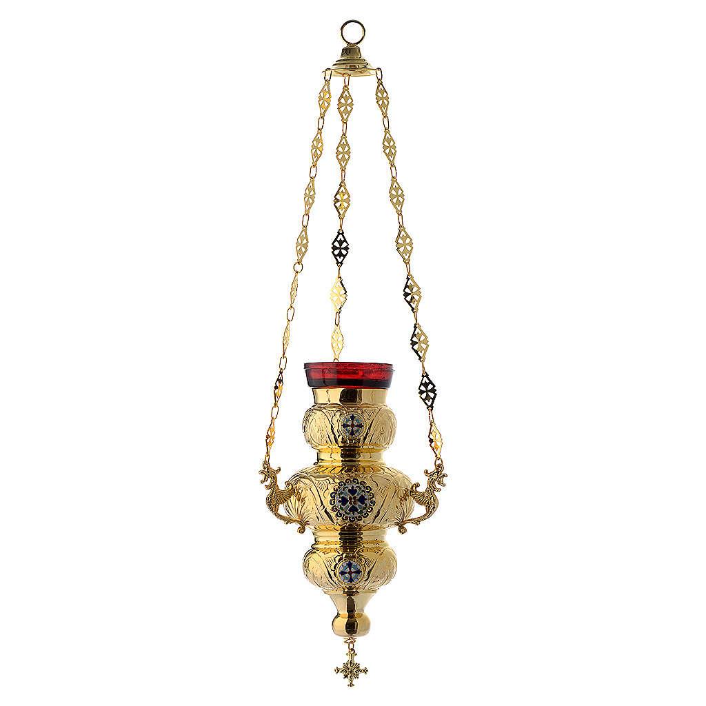 Lampada Ortodossa ottone dorato cm 26X17 3