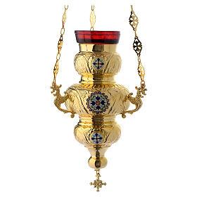 Lampada Ortodossa ottone dorato cm 26X17 s1