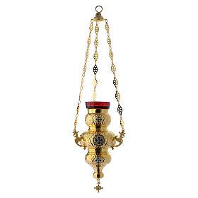 Lampada Ortodossa ottone dorato cm 26X17 s2
