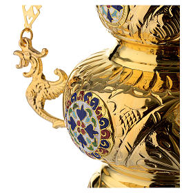 Lampada Ortodossa ottone dorato cm 26X17 s4